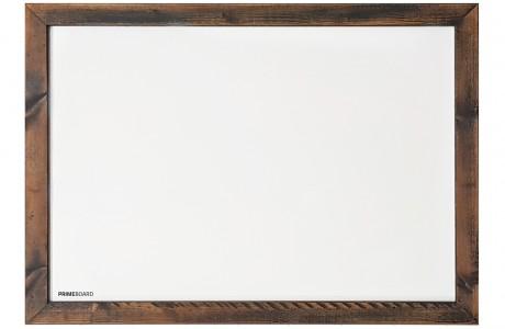 לוח מחיק מגנטי מסגרת עץ צבע רוסטיק שרוף