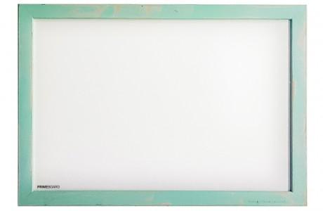 לוח מחיק מגנטי מסגרת עץ צבע מנטה משופשף